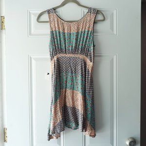 Free People Summer Colorful Tank Dress 6